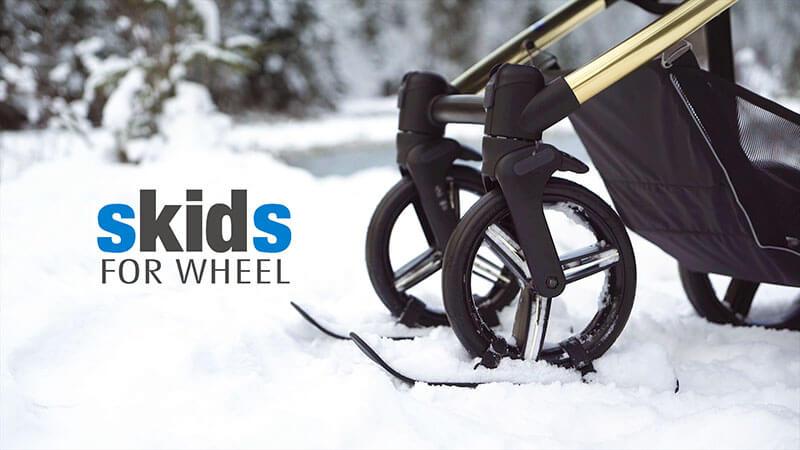 Narty do wózków dziecięcych - video